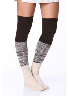 Oh My God Over-the-Knee Socks in Charcoal