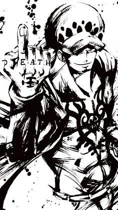 Dragon Ball Z Blut von Saiyajin - Goku mit Box - One Piece - Anime One Piece Manga, Law One Piece, One Piece Drawing, Zoro One Piece, One Piece Images, One Piece Pictures, Simple Pictures, One Piece Tattoos, Pieces Tattoo