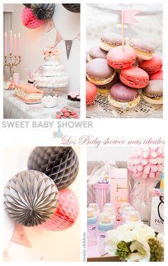 decoración mesa baby shower tarta pañales Mesas Para Baby Shower, Girl Shower, Place Cards, Place Card Holders, Cake, Sweet, Desserts, Food, Kids Fashion Blog