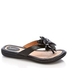 Flower Accent Comfort Thong Sandals - Had to have them. Soooo comfortable!!!