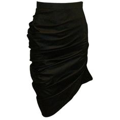 """Preowned Alexander Mcqueen A/w 1998 """"joan"""" Collection Black... ($4,999) ❤ liked on Polyvore featuring skirts, black, black skirt, black knee length skirt, pin skirt, alexander mcqueen skirt and black pencil skirt"""