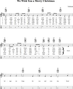 We Wish You a Merry Christmas Mandolin Tab Page 1. View the whole song at http://chordzone.com/music/mandolin/we-wish-you-a-merry-christmas/. PDF also available.