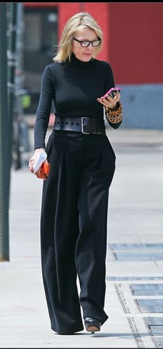 Diane Keaton Chatting On Her Phone In New York