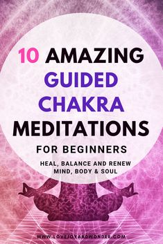 10 Amazing guided chakra meditations for beginners. Heal, balance and renew your… 10 Amazing guided chakra meditations for beginners. Heal, balance and renew your…,Everything pagan 10 Amazing guided chakra meditations for beginners. Yoga Meditation, Guided Mindfulness Meditation, Meditation For Anxiety, Meditation Benefits, Meditation For Beginners, Meditation Techniques, Meditation Practices, Kundalini Yoga, Mindfulness Activities