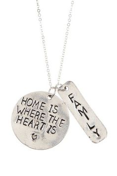 Home Is Where The Heart Is Necklace by Alisa Michelle on @HauteLook