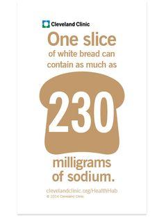 Hidden Salt in Foods - Unlikely sodium-rich culprits may even taste sweet ~ Cleveland Clinic