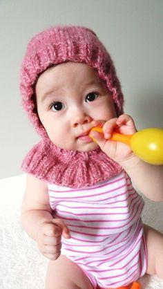 pembe örgü bebek beresi