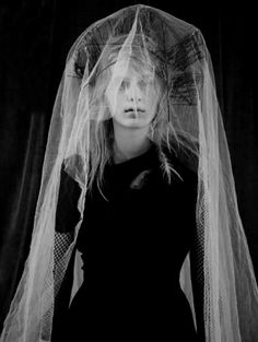 ☫ A Veiled Tale ☫ wedding, artistic and couture veil inspiration - Gothic