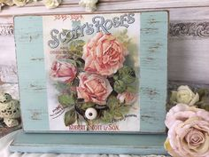 Shabby Chic BreadboxChippy distressed painted por Fannypippin