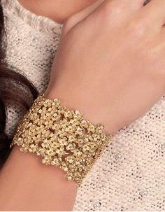 Bracelets - Manchette en Or Daisy Clover -