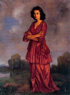 Obras de Arte: Pintor español Ignacio Zuloaga - Retrato de Dª Carmen Arconada - 1940