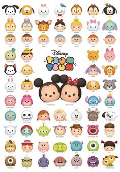 Disney TSUM TSUM The line-up! They're 1000 pieces. the fun world fits a jigsaw puzzle! A jigsaw of DisneyTSUMTSUM appears at last! (C)Disney(C)Disney/Pixar. Walt Disney, Disney Amor, Disney Films, Disney Love, Disney Magic, Cute Disney Characters, Disney And Dreamworks, Disney Pixar, Chibi Disney