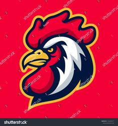 Find Vector Mascot Cartoon Illustration Rooster Head stock images in HD and millions of other royalty-free stock photos, illustrations and vectors in the Shutterstock collection. Thousands of new, high-quality pictures added every day. Rooster, Royalty Free Stock Photos, Cartoon, Sport, Logo, Illustration, Artist, Pictures, Image