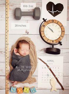 Идея для фотосессии новорождённых
