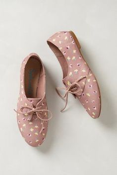 Cute printed oxfords