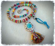 Collar escarabajo Amuleto Escárabo collar tribal egipcio Espiritual Boho larga declaración de la borla del collar fornido africano Hippie GPyoga