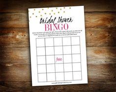 Bridal Shower Games - Bridal Shower Bingo - Chalkboard Blank Bingo Board - Wedding Shower Game - Wedding Bingo - 0030