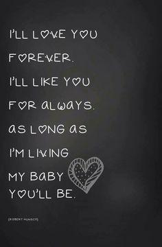 As long as I'm living...