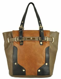 Melie Bianco Women's Ibis Color-block Tote, Cognac, One Size Melie Bianco, To SEE or BUY just CLICK on AMAZON right here http://www.amazon.com/dp/B00I0MLKIG/ref=cm_sw_r_pi_dp_wrWytb0BE2XVXWTH