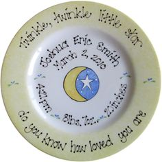 Baby gifts, Baby plates, Baptism gifts, Christening gifts personalized and hand painted