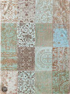 bol.com | Louis de Poortere Vintage Kelim Sea Blue 8006 170x240 cm Vloerkleed | Wonen... Eur 429