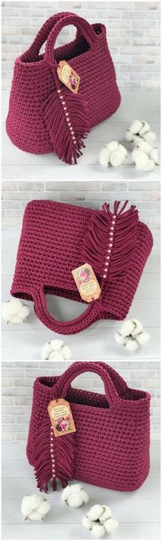 Handbag Free Crochet Pattern – Purses And Handbags Diy Bag Crochet, Crochet Purse Patterns, Crochet Market Bag, Handbag Patterns, Crochet Handbags, Crochet Purses, Crochet Crafts, Free Crochet, Diy Crafts