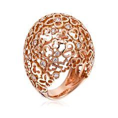Stefan Hafner Flora 18K Rose Gold Ring With Diamond Inserts (=)