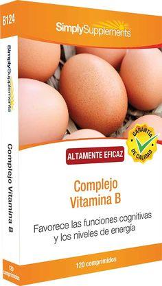 Suplementos de Complejo de Vitamina B   Esta nueva fórmula proporciona un 200% del Valor de Referencia Nutricional de las 8 vitaminas B esenciales.   Favorece los niveles de energía Mejora la función cerebral Ayuda al corazón
