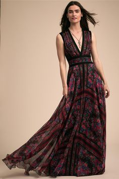 Romola Dress Rosewood Floral in Occasion Dresses | BHLDN