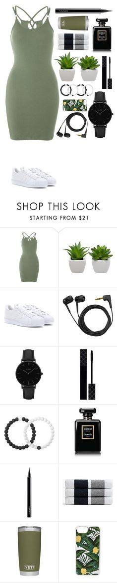 """""""Untitled #523"""" by dutchfashionlover ❤ liked on Polyvore featuring Topshop, adidas, Sennheiser, CLUSE, Gucci, Lokai, Chanel, MAC Cosmetics, James Perse and Sonix"""