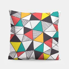 Geometric and colorful pattern Pillow by Vitor7costa 14.95€