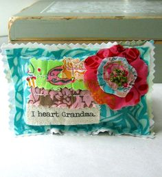 Mother's Day Pillow Grandma Lavender Sachet by tracyBdesigns