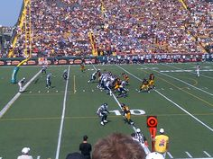 Toronto Argonauts vs Hamilton Tiger-Cats. September 3, 2012. Final Labour Day Classic at Ivor Wynne Stadium. Hamilton, Ontario. #CFL #Argos #TiCats #football #Hamilton
