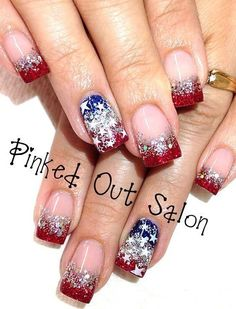 nail art designs 2019 elegant nail designs for short nails essie nail stickers nail art stickers walmart best nail wraps 2019 Get Nails, Fancy Nails, Trendy Nails, Hair And Nails, Bling Nails, Holiday Nail Designs, Toe Nail Designs, Holiday Nails, July 4th Nails Designs