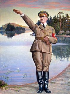 Adolf Hitler, 1942 by Sigurd Wettenhovi-Aspa (Wetterhoff-Asp). The Bolsheviks, Last Knights, French Films, Historical Pictures, Ww2, Drawings, Photographs, Paintings, Italia