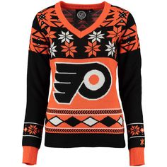 Philadelphia Flyers Women's Orange Ugly Sweater