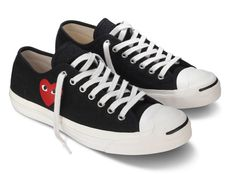 Converse x Comme des Garcons PLAY Jack Purcell Spring 2011 Converse All Star, Converse Shoes, Converse Chuck Taylor, Diva Fashion, Mens Fashion, Comme Des Garcons Play, Converse Jack Purcell, Shoe Game, Cute Shoes