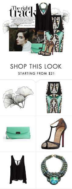 """Untitled #2813"" by jennifers-vintagevalley ❤ liked on Polyvore featuring River Cottage Gardens, Grace, Peter Pilotto, Jimmy Choo, Christian Louboutin and DANNIJO"