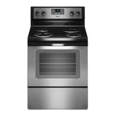 Whirlpool 30-in Freestanding 4-Element 4.8 cu ft Electric Range (Stainless Steel) 5 stars $599