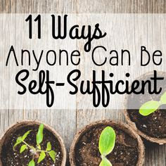 Self-sufficiency doesn't have to be achieved by living off the grid. ANYONE can be self-sufficient by making a few simple changes to their life!