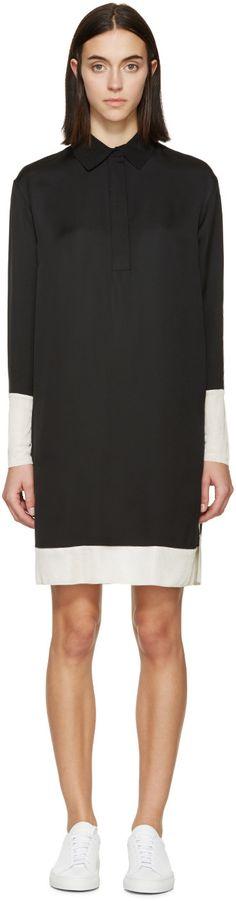 Rag & Bone - Black & Cream Crepe Anita Dress