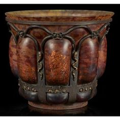 Daum/Louis Majorelle, vase, Nancy, France, circa 1920,