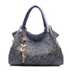 Floral Print Hobo Handbag