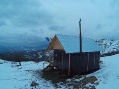 My cabin in the winter. Located on the southern part of Baiului mountains in Romania's Carpathians.