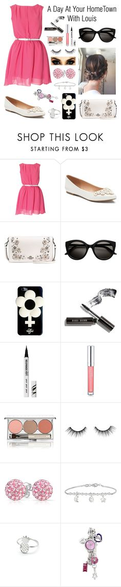 """Untitled #58"" by hazzazgurl ❤ liked on Polyvore featuring LC Lauren Conrad, Coach, Valfré, Bobbi Brown Cosmetics, Bare Escentuals, Forever 21, Chantecaille, tarte, Bling Jewelry and Disney"