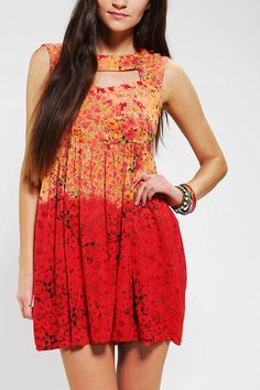 Urban Renewal Dip Dye Babydoll Dress #urbanoutfitters