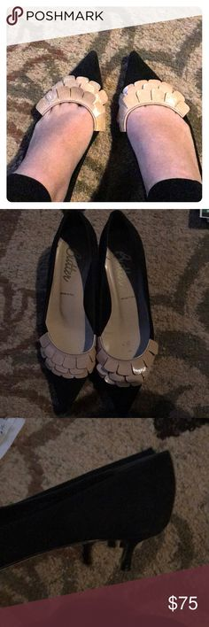 Butter black kitten heels These kitten heels are so cute! They are in very good condition! Butter Shoes Shoes Heels