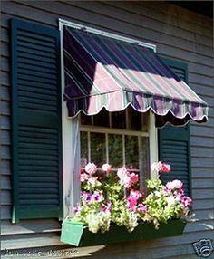 Window Awning Custom Made Sunbrella Fabric Awnings