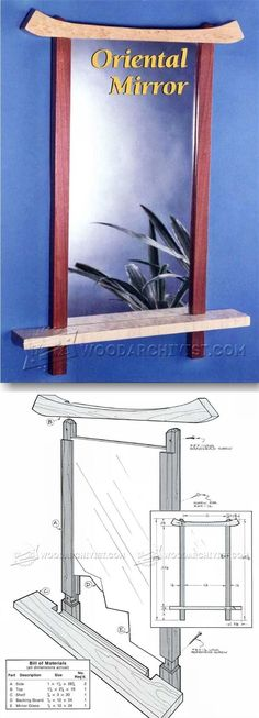 Wall Mirror Plans - Woodworking Plans and Projects | WoodArchivist.com