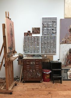 A glimpse inside the studio of this Bay Area painter, who specializes in unconventional portraits and prints.